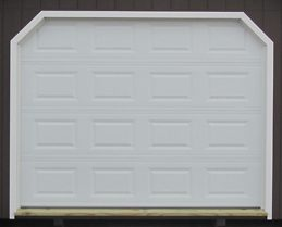 12 foot white garage door