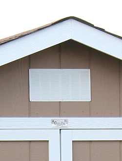 1 Standard Vent Included on Backyard Buildings for Sale