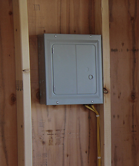 electrical package in outdoor sheds made in Kentucky