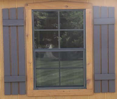 shutters option for shed windows for sale